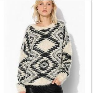 Urban Outfitters Aztec Fuzzy Sweater